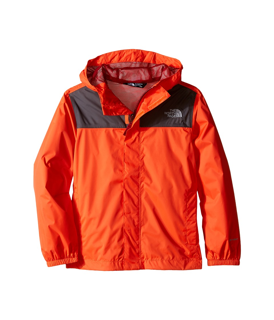 The North Face Kids - Zipline Rain Jacket (Little Kids/Big Kids) (Mandarin Red) Boy