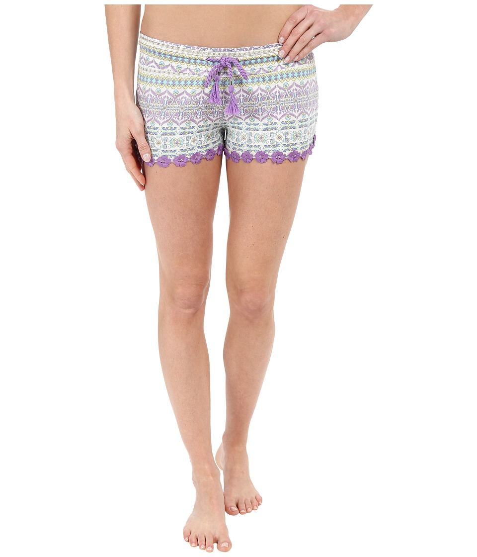 P.J. Salvage Boho Beauty Shorts Mint Womens Pajama