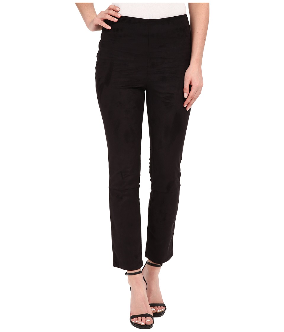 Lysse Back Slit Suede Black Womens Casual Pants