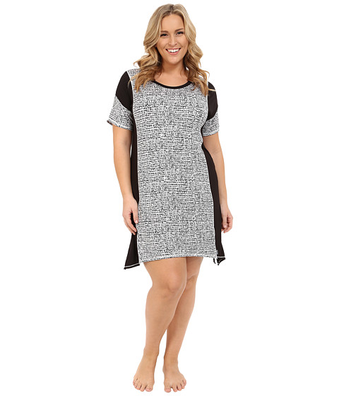 DKNY Plus Size Urban Essentials Short Sleeve Sleepshirt