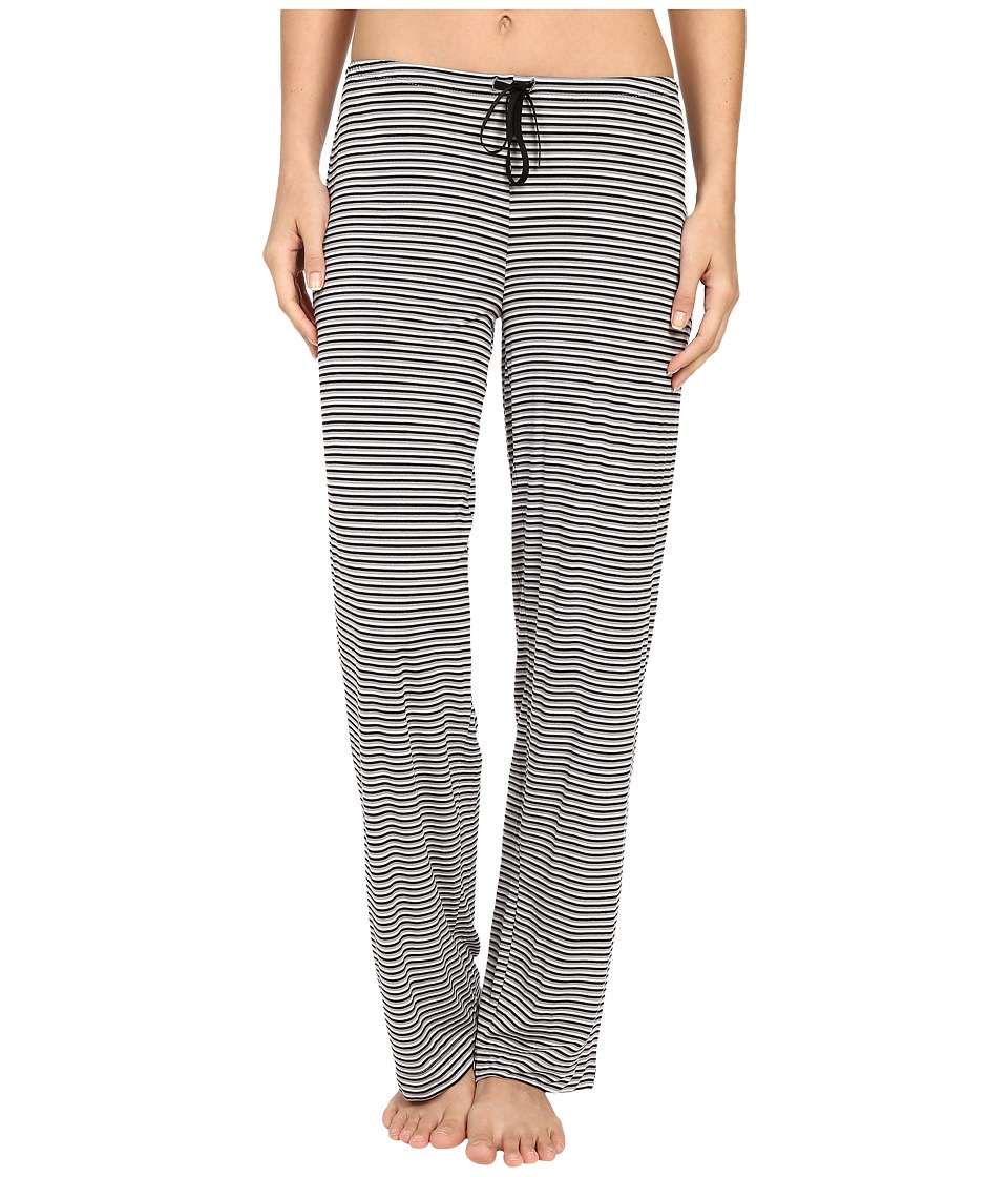 DKNY Urban Essentials Lounge Pants Black Stripe Womens Pajama