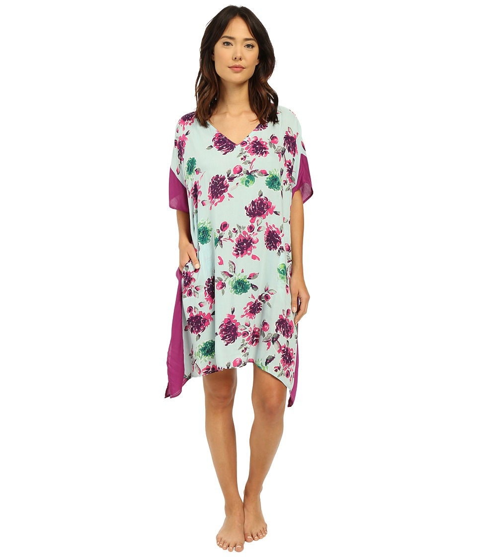 DKNY Spring Ahead Caftan Spa Floral Womens Pajama