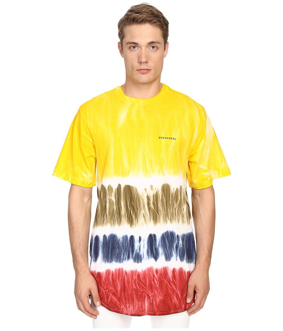 DSQUARED2 - Trapezio Fit Tie-Dye Tee (Mix Colors) Men