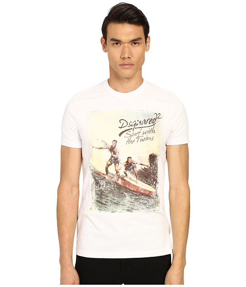 DSQUARED2 Classic Fit Vintage Rainbow Tee