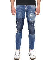 DSQUARED2 - Gesso Patch Wash Five-Pocket Clement Jeans