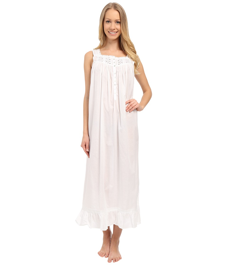 Eileen West Timeless Ballet Nightgown Solid White Womens Pajama