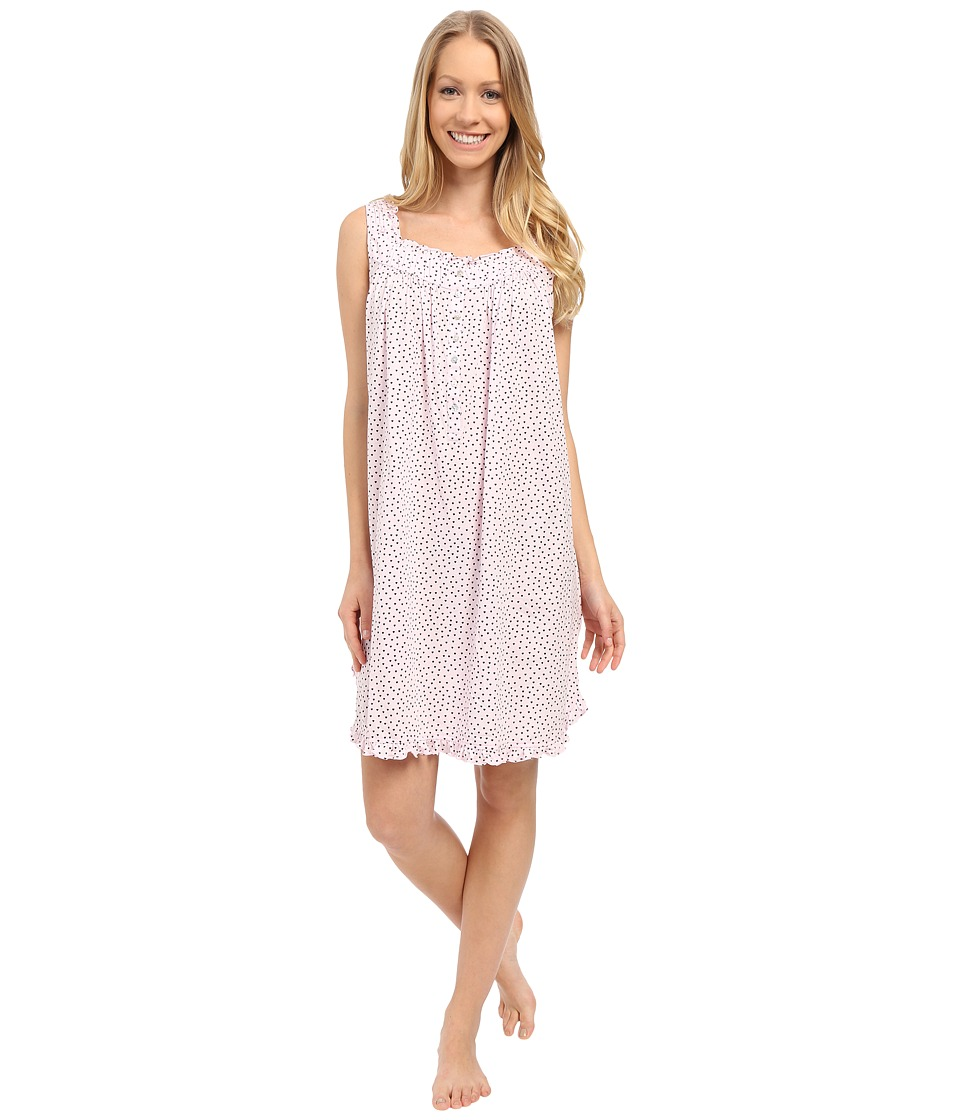 Eileen West Happy Heart Chemise Pink Ground/Tiny Hearts Womens Pajama