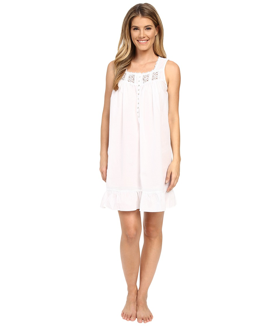 Eileen West Timeless Chemise Solid White Womens Pajama