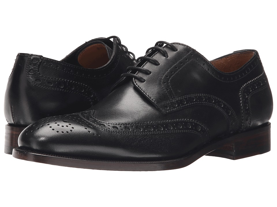 Gordon Rush Hanley Black Mens Lace Up Wing Tip Shoes