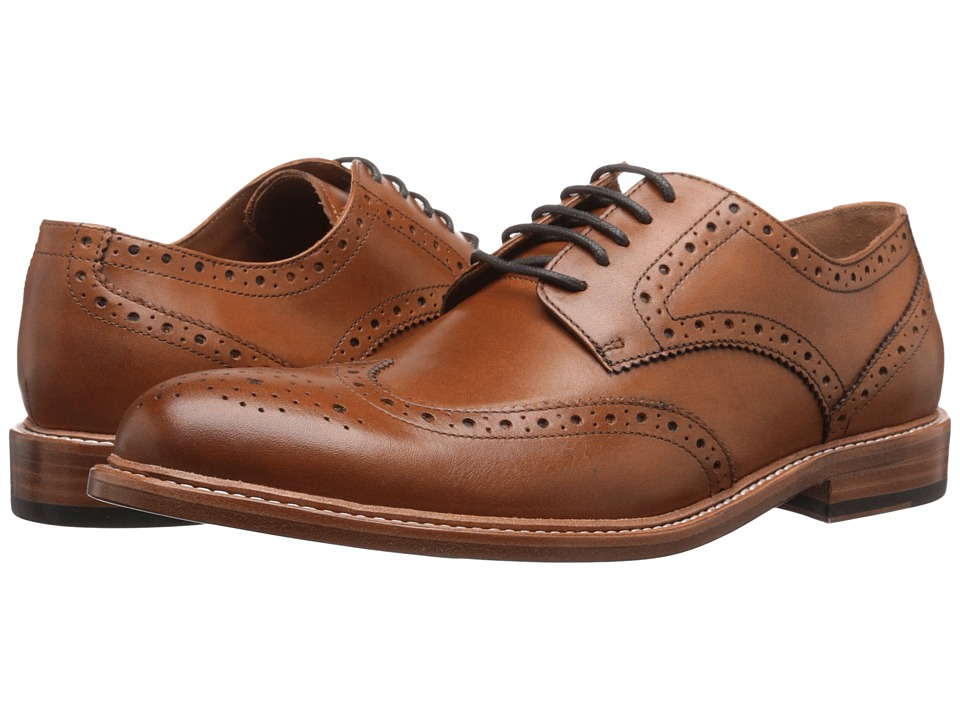Gordon Rush Baines Tan Mens Lace Up Wing Tip Shoes