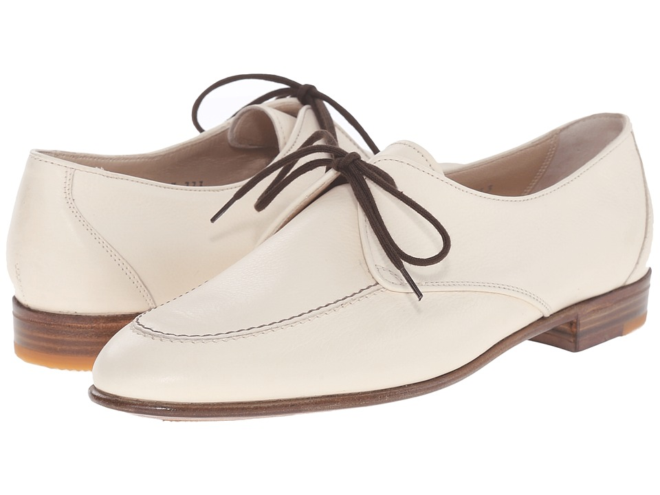 Gravati Mou Calf Apron Toe Oxford with Contrast White Womens Lace up casual Shoes