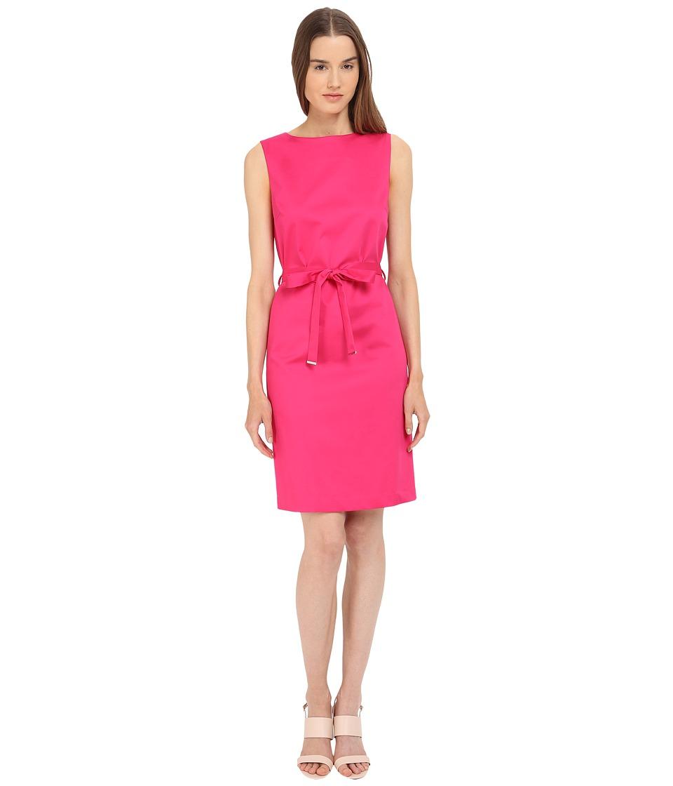 Paul Smith Black Label Sleeveless Tie Dress Hot Pink Womens Dress