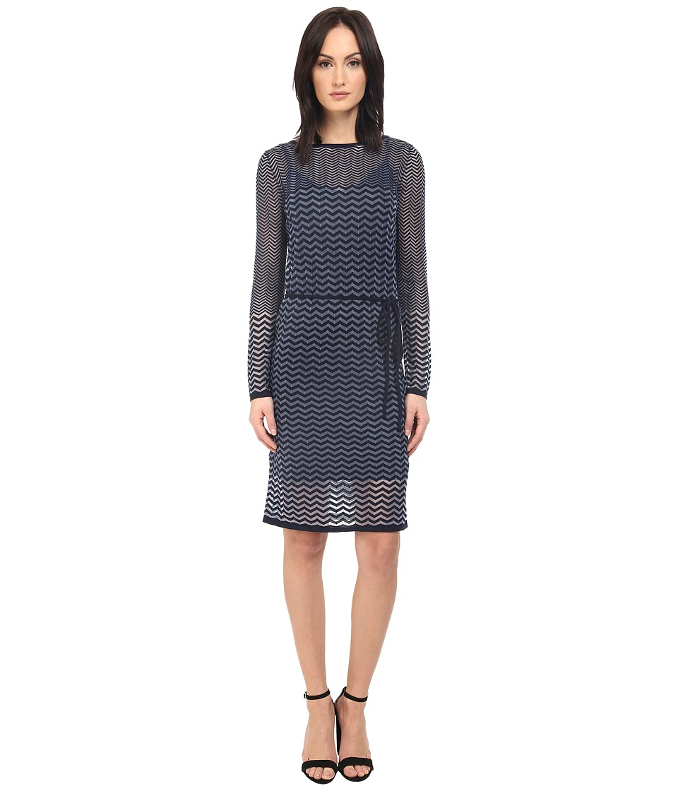 Paul Smith Black Label Knit Tie Dress Blue/Navy Womens Dress