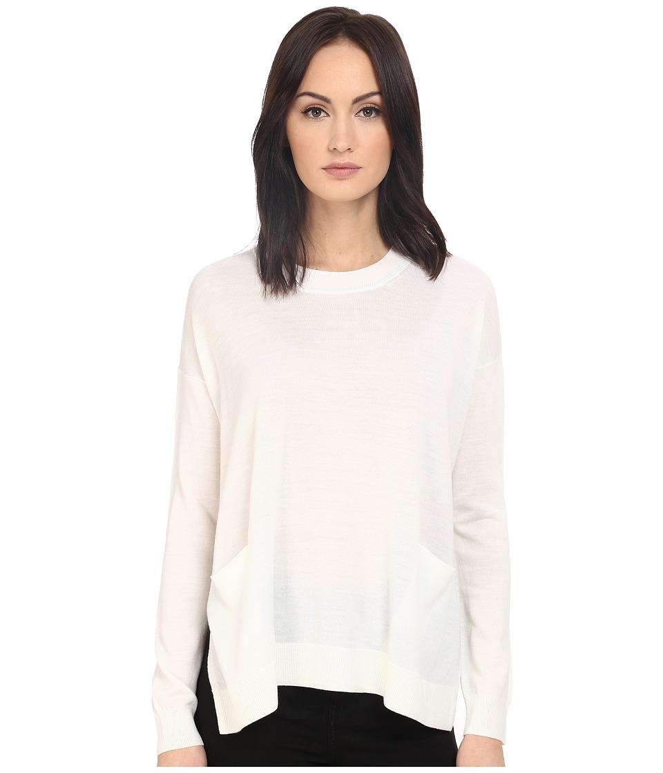 Paul Smith Black Label Oversized Lightweight Sweater White Womens Sweater