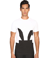 McQ - Short Sleeve Digital Bunny Crew Neck Tee