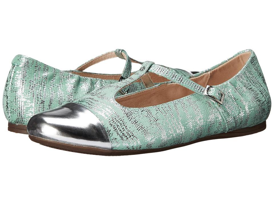 Venettini Kids 55 Annie Little Kid/Big Kid Silver Mirror Leather/Aqua Mirror Patent Girls Shoes