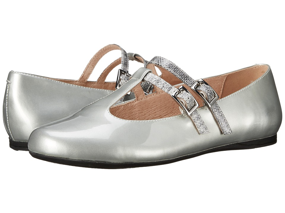 Venettini Kids 55 Avery Little Kid/Big Kid Silver Patent/Silver Ritzy Leather Girls Shoes