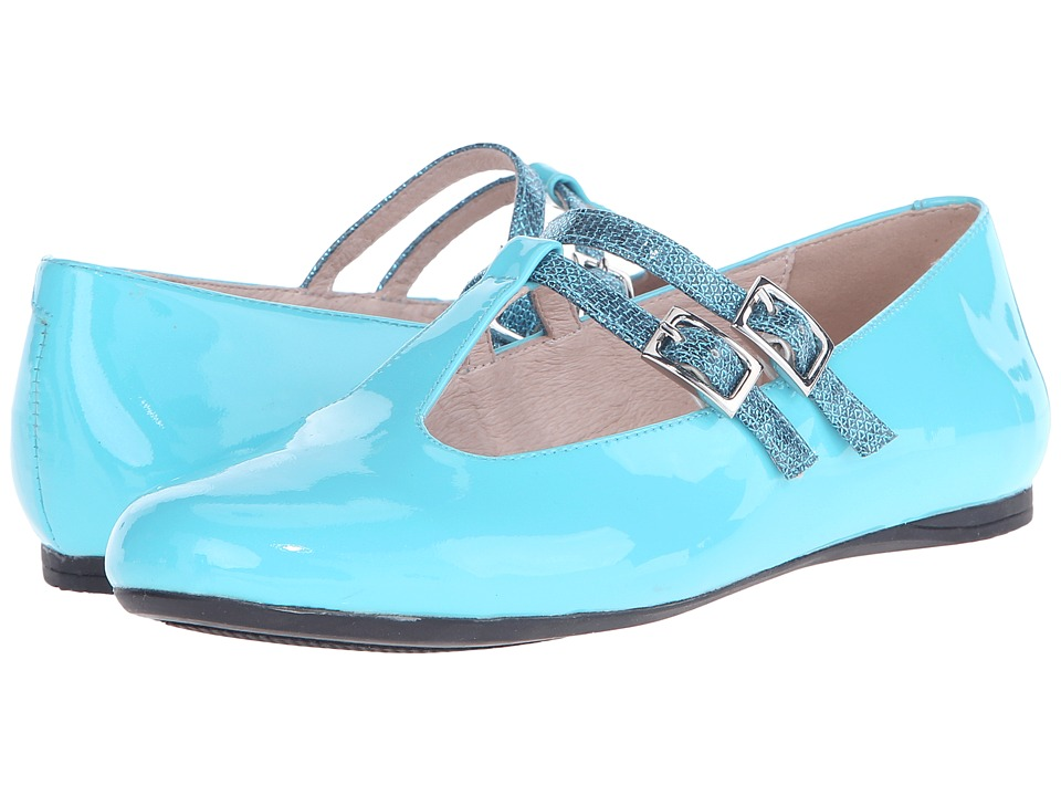 Venettini Kids 55 Avery Little Kid/Big Kid Turquoise Patent/Turquoise Ritzy Leather Girls Shoes
