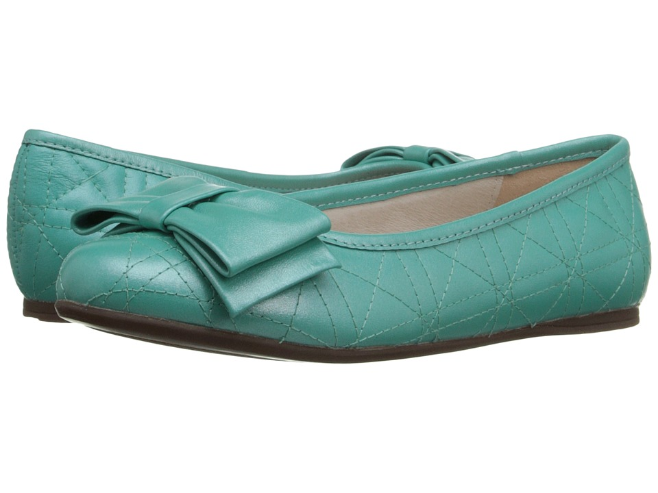 Venettini Kids 55 Clive Little Kid/Big Kid Teal Pearlized Leather Girls Shoes