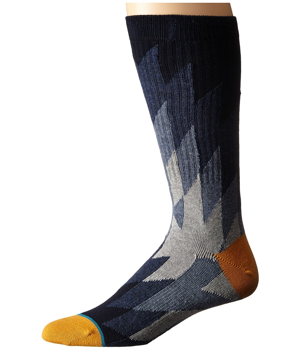 Stance Arena Navy Mens Crew Cut Socks Shoes