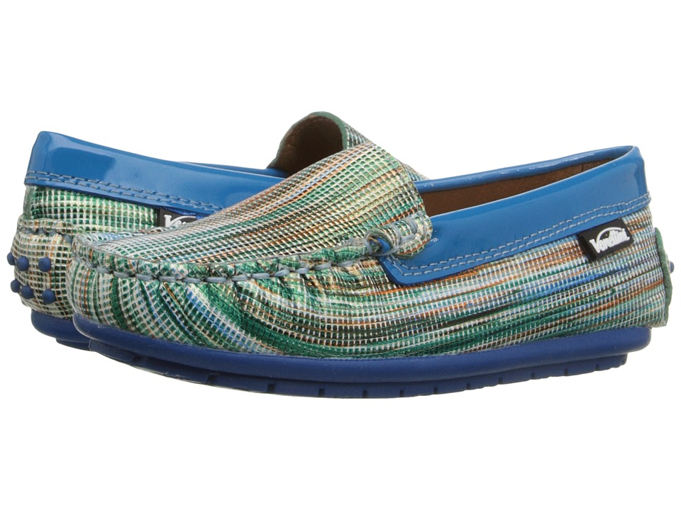 Venettini Kids 55 Gordy Toddler/Little Kid/Big Kid Blue Wave Leather/Aqua Patent Girls Shoes