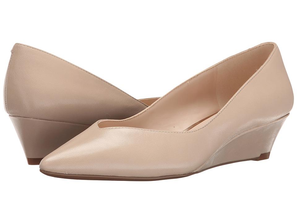 Nine West Elenta Light Natural Leather Womens Wedge Shoes