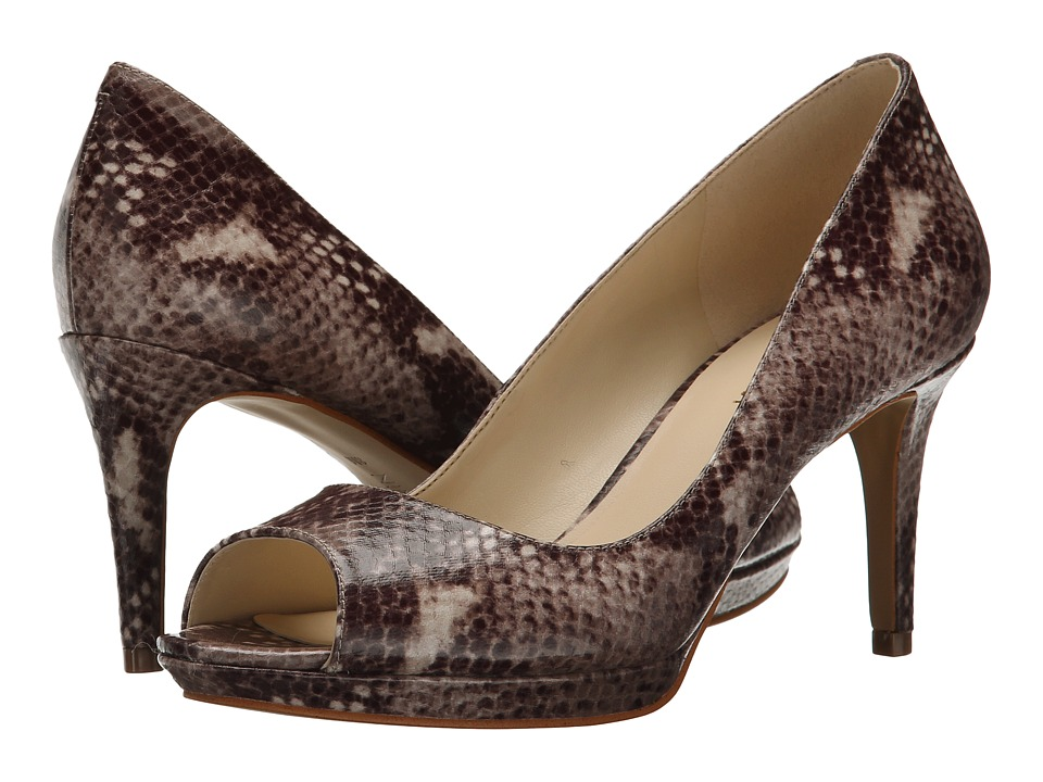 Nine West Gelabelle Dark Natural Multi Synthetic Womens Shoes