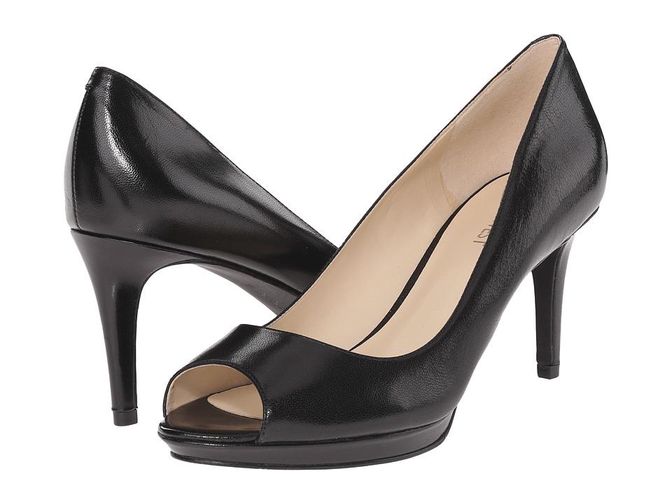 Nine West Gelabelle Black Leather Womens Shoes