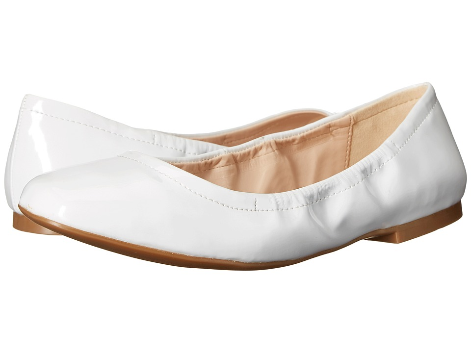 Nine West Girlsnite White Synthetic Womens Flat Shoes