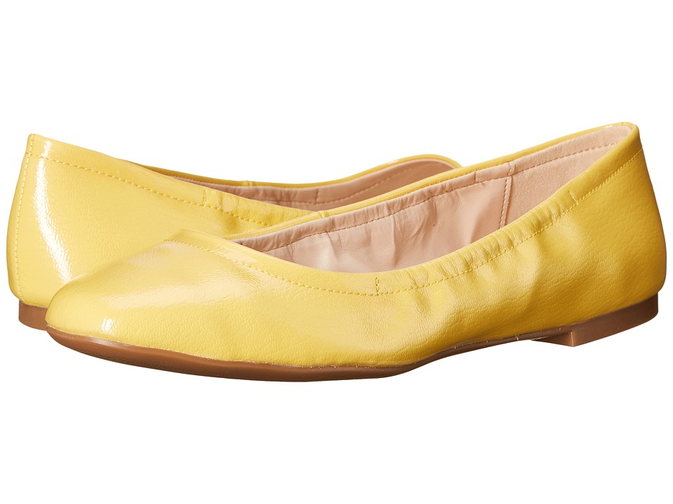 Nine West Girlsnite Yellow Synthetic Womens Flat Shoes
