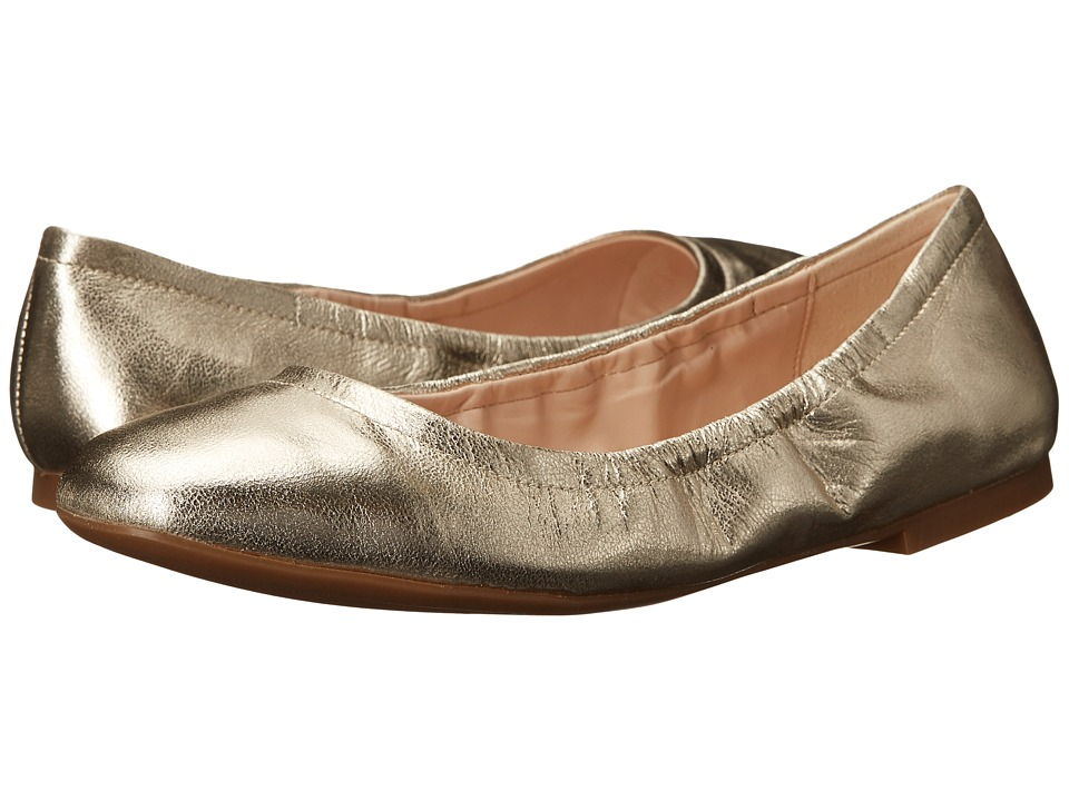 Nine West Girlsnite Light Gold Metallic Womens Flat Shoes