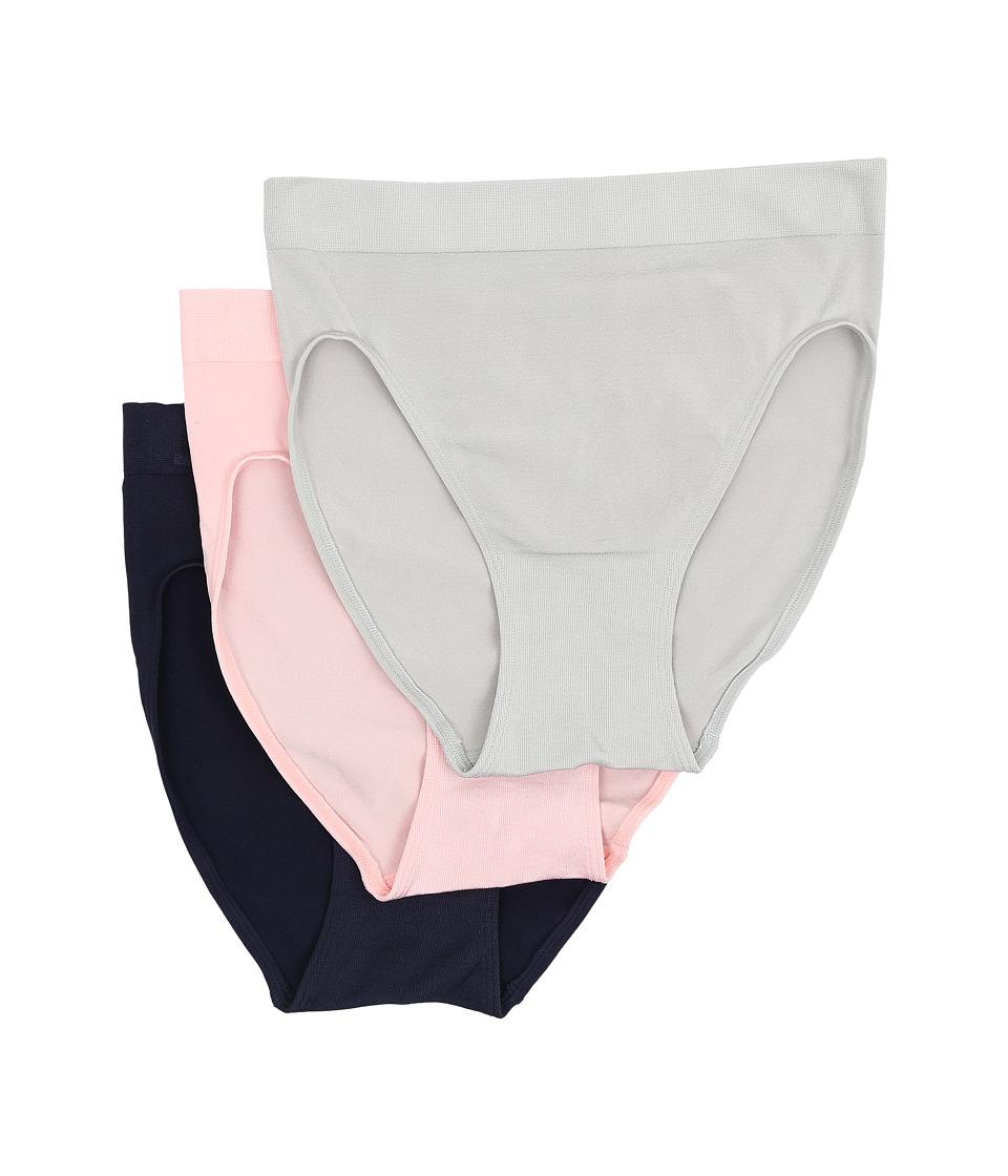 Wacoal B Smooth Hi Cut Brief High Rise/Crystal Rose/Peacoat Womens Underwear