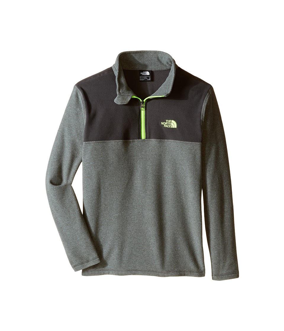 The North Face Kids - Glacier 1/4 Zip (Little Kids/Big Kids) (TNF Medium Grey Heather) Boy