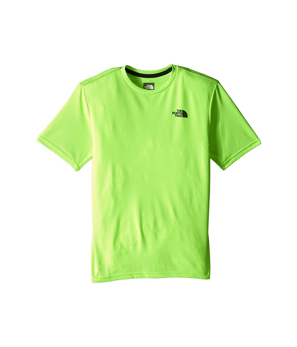 The North Face Kids - Short Sleeve Reaxion Tee (Little Kids/Big Kids) (Safety Green) Boy