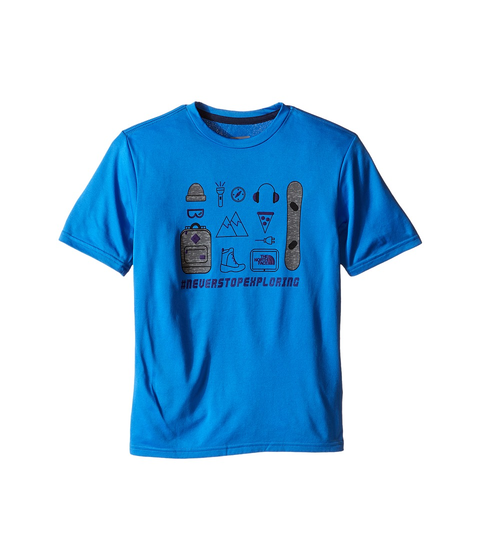The North Face Kids Short Sleeve Reaxion Tee (Little Kids/Big Kids) (Jake Blue) Boy