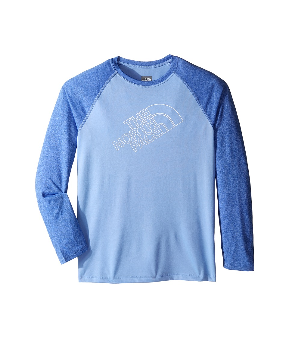 The North Face Kids Mak Long Sleeve Baseball Tee (Little Kids/Big Kids) (Grapemist Blue) Girl