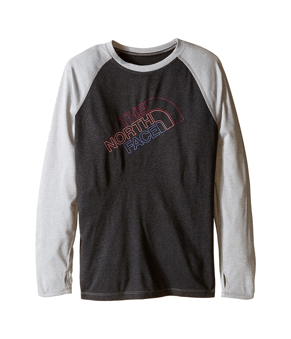 The North Face Kids Mak Long Sleeve Baseball Tee (Little Kids/Big Kids) (TNF Dark Grey Heather) Girl