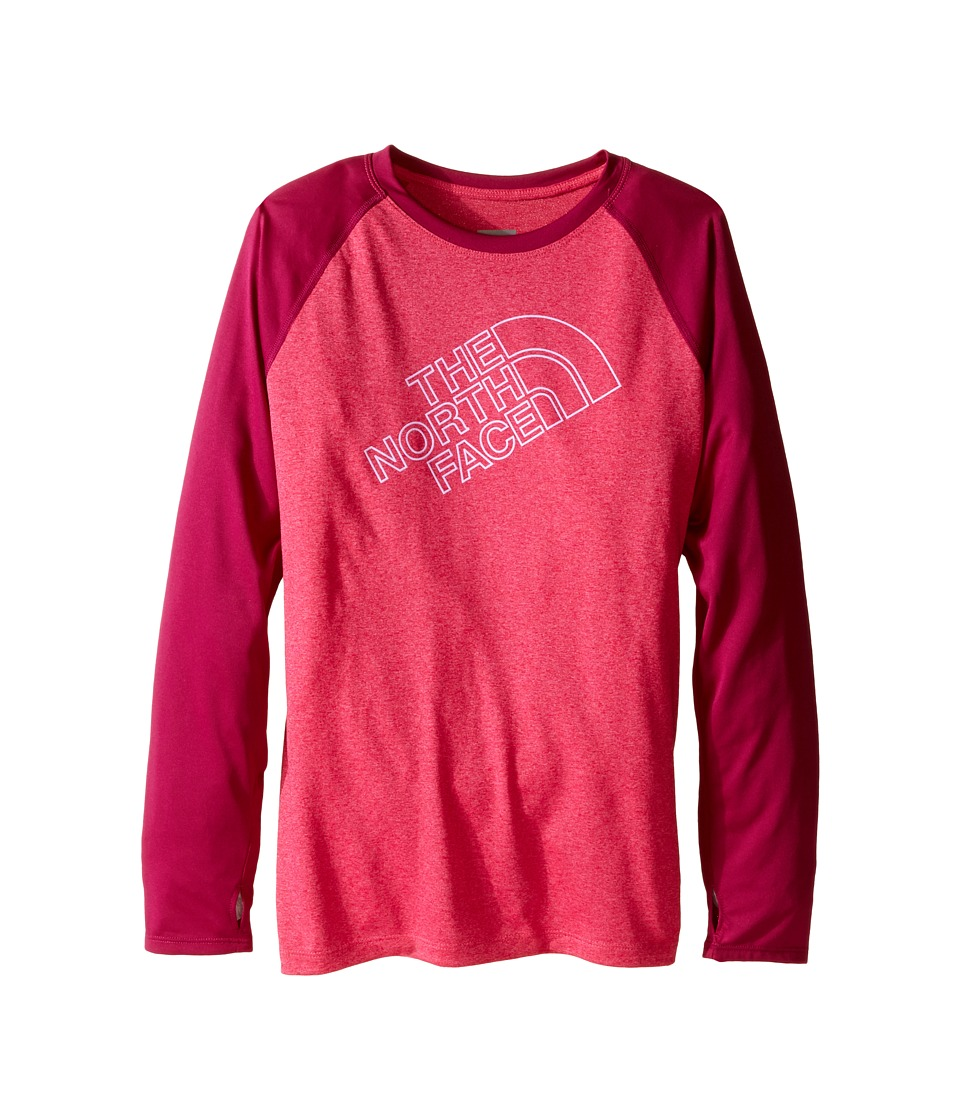 The North Face Kids Mak Long Sleeve Baseball Tee (Little Kids/Big Kids) (Cabaret Pink Heather) Girl