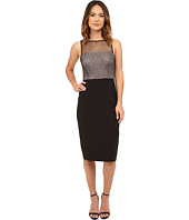 London Times - Sleeveless Illusion Neck Sheath