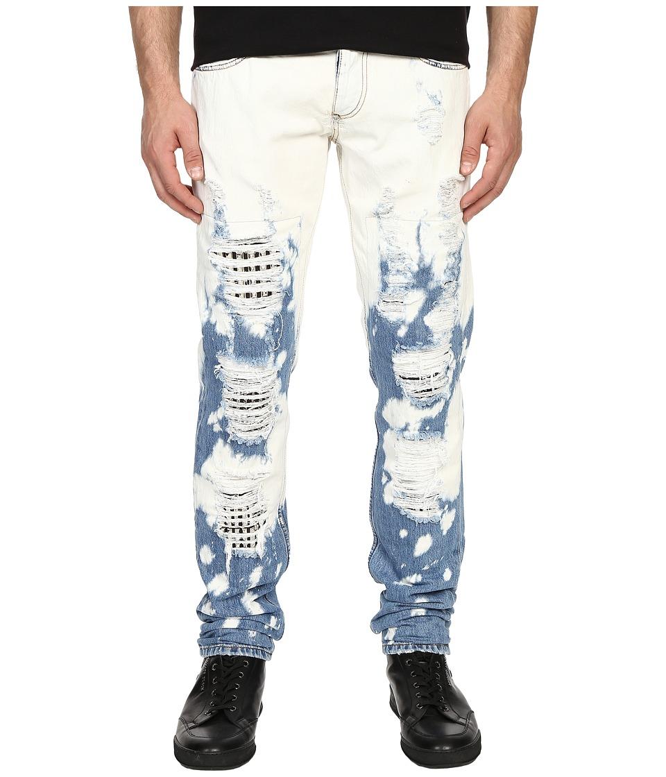 Philipp Plein Golden Skin Straight Cut Denim Summer Ice Mens Jeans