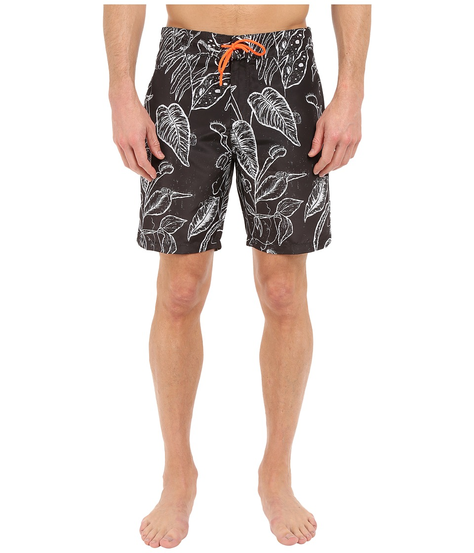 Paul Smith Botanical Print Surf Swim Shorts Grey Mens Swimwear