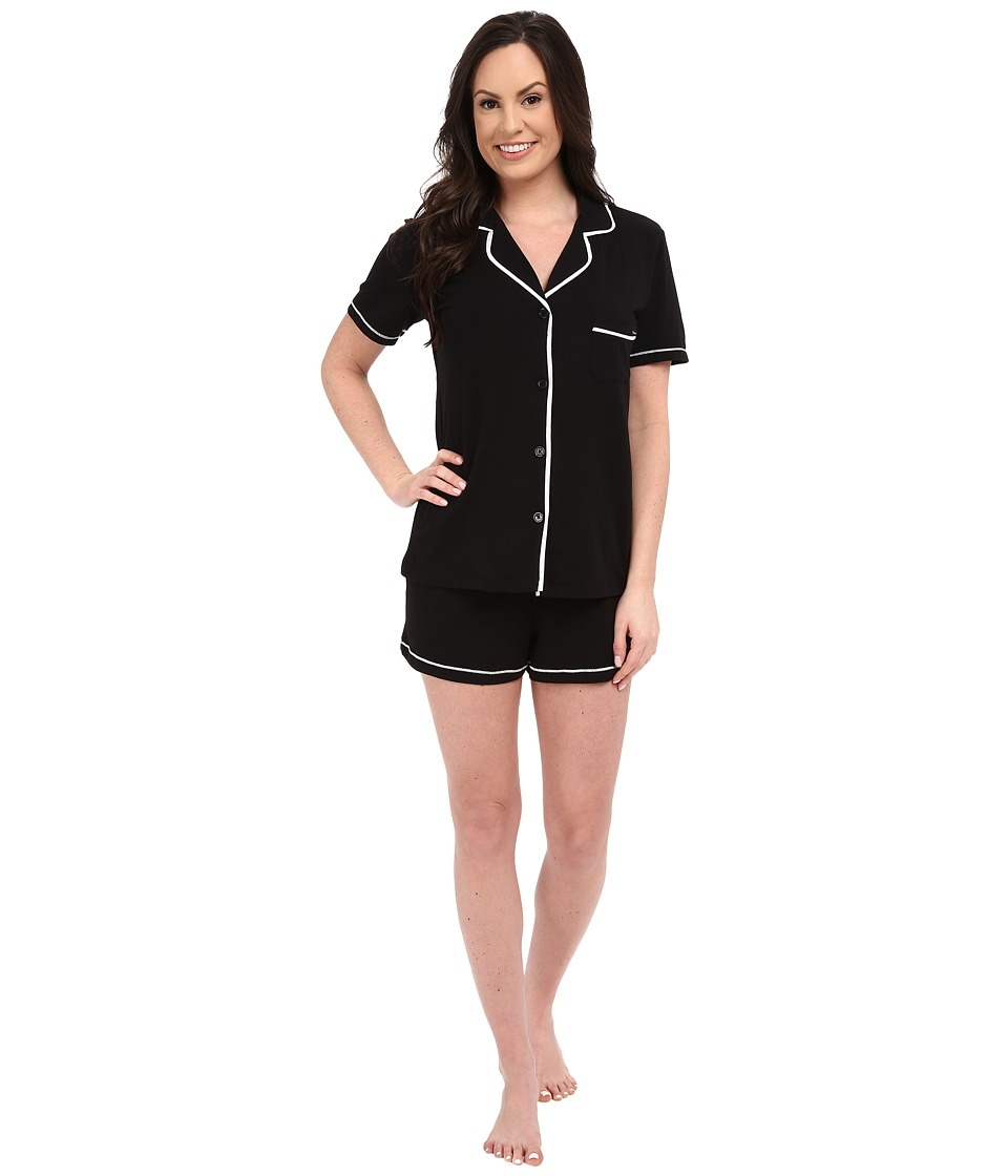 DKNY A Novel Idea Shorts PJ Set Black Womens Pajama Sets