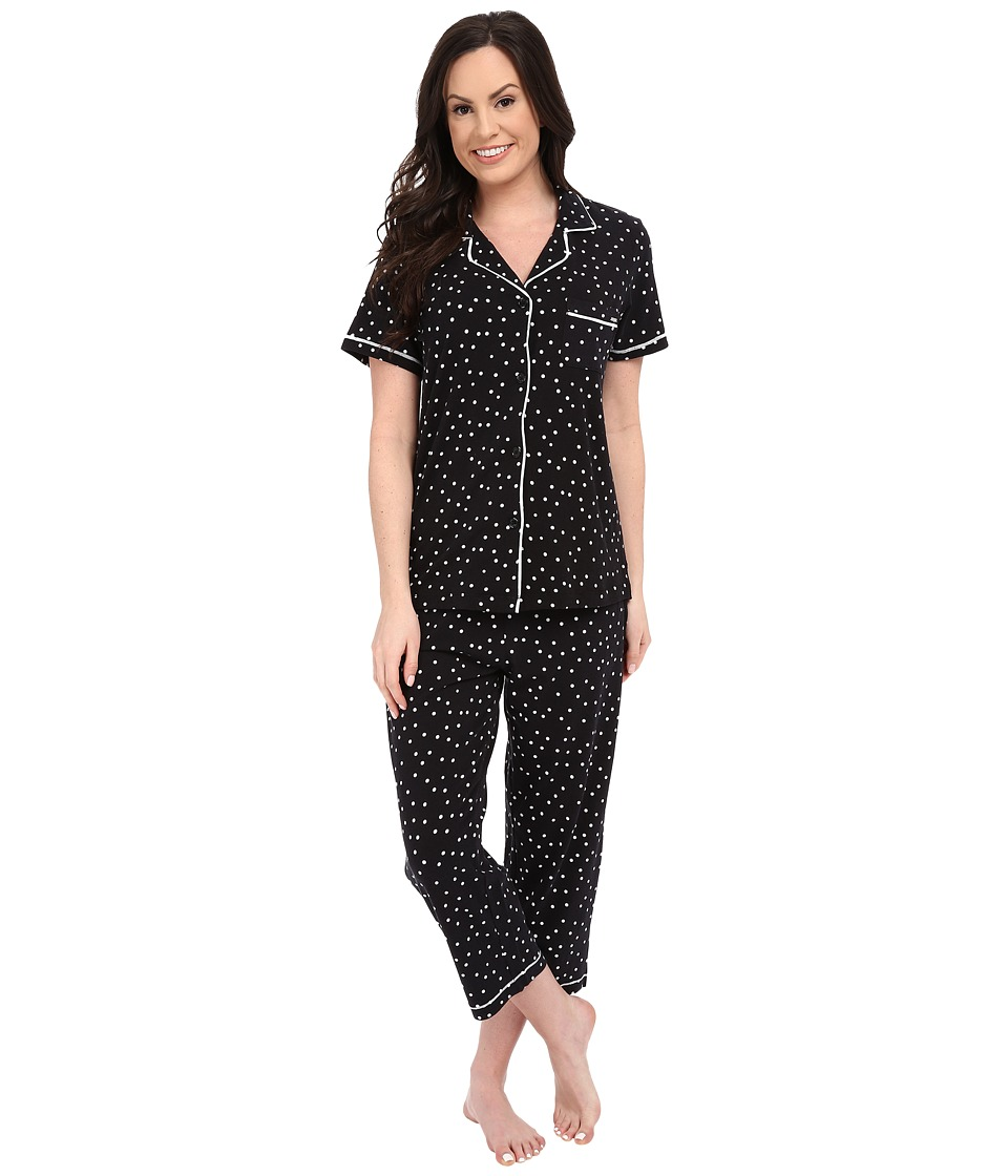 DKNY A Novel Idea Capris PJ Set Black Dot Womens Pajama Sets