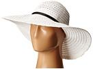 BCBGMAXAZRIA Vintage Woven Panama (White)