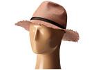BCBGMAXAZRIA Frayed Panama Hat (Bare Pink)