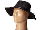 BCBGMAXAZRIA Sueded Panama Hat (Black)