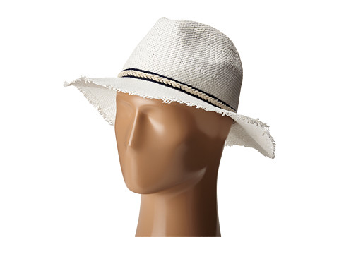 BCBGMAXAZRIA Textured Ribbon Fedora Hat