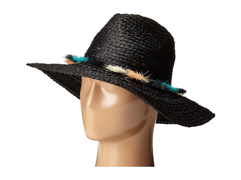 BCBGMAXAZRIA Tassel Panama Hat Black Caps