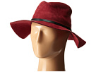 BCBGMAXAZRIA Sueded Panama Hat (Wine)