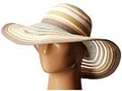 BCBGeneration Sheerly Striped Floppy Hat (White)